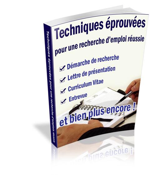 c7df07dbcef Techniques éprouvées pour une recherche d emploi RÉUSSIE - ebook